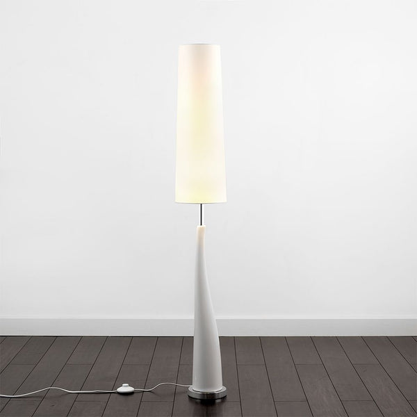 Ceramic Base Floor Lamp White