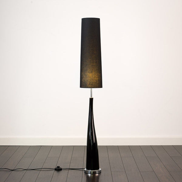 CERAMIC BASE FLOOR LAMP BLACK