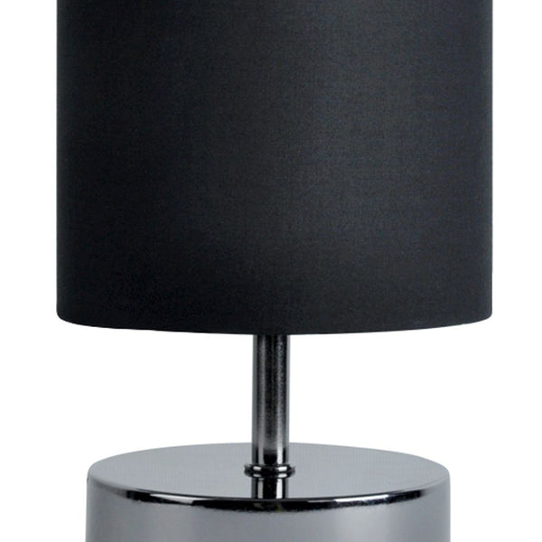 Malin Touch Table Lamp Black and Chrome