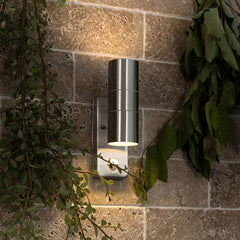 Stainless Steel PIR Outdoor Updown Wall Light For GU10 IP44