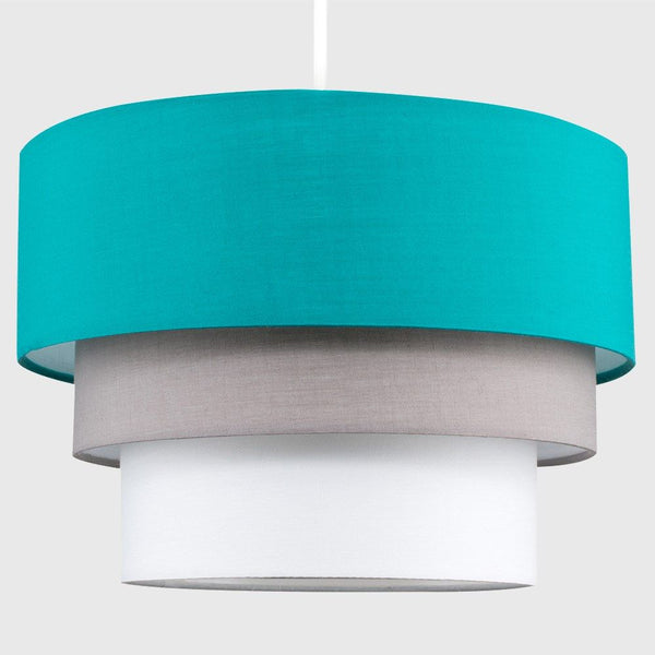 AZTEC PYRAMID TEAL 3 TIERED NE PENDANT SHADE