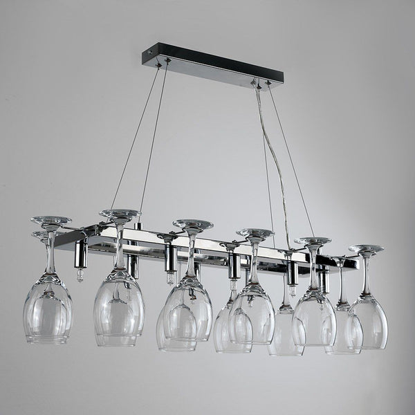 Chalice 8 Way Modern Wine Glass Designer Ceiling Light Chrome