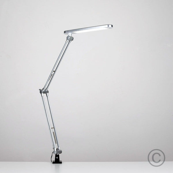 Linea Silver 6W LED Adjustable Clamp Desk Lamp