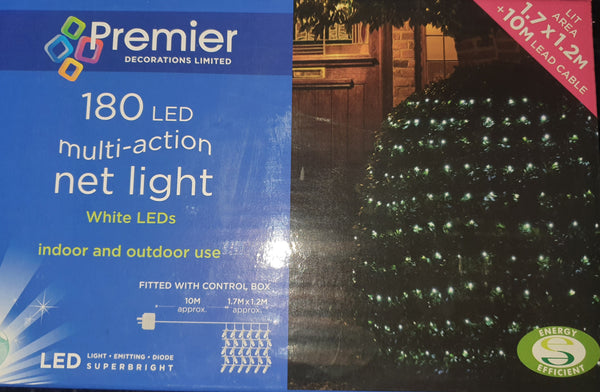 Premier 180 LED WHITE Multi-Action Indoor/Outdoor