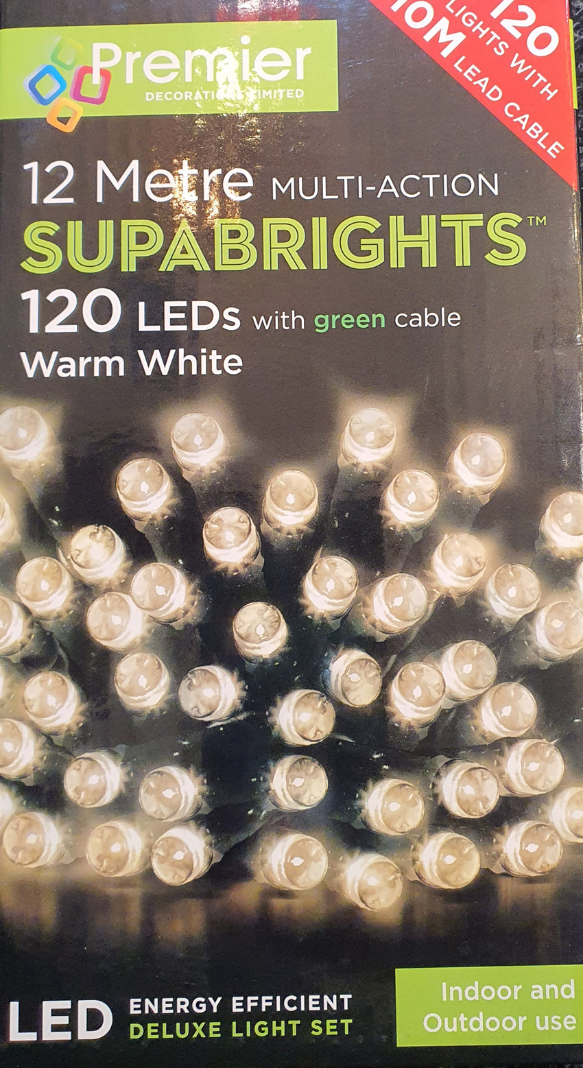 Premier 12 metre 120 LED 12 Meter Multi-Action Warm White