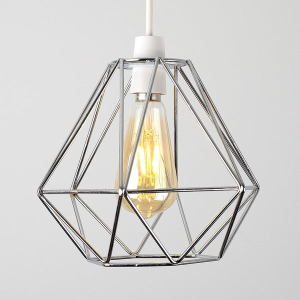 DIABLO CHROME WIRE FRAME NON ELECTRIC PENDANT SHADE