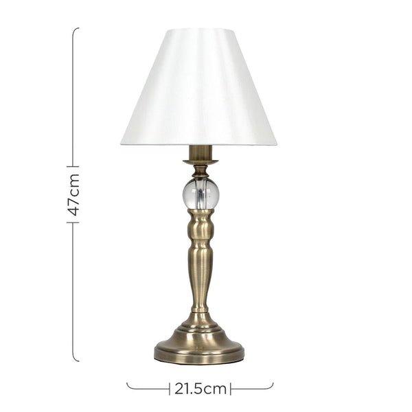Sofia Antique Brass Touch Table Lamp