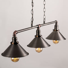 CORINTHIA 3 WAY OVER TABLE LIGHT AGED BRASS NICKEL COPPER