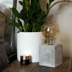 SCHOFIELD CEMENT CUBE TABLE LAMP BASE