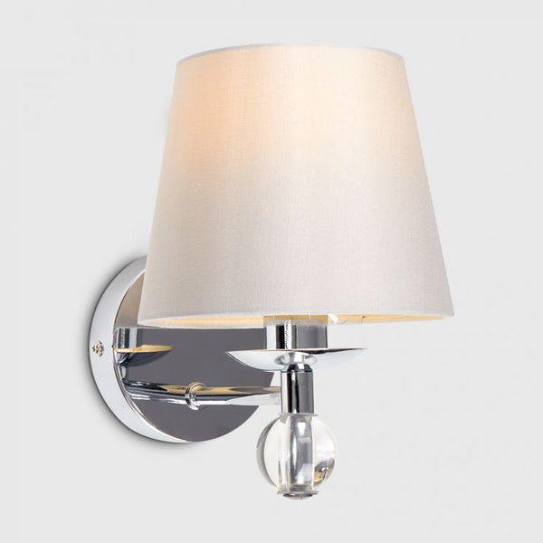 BRYANTT SINGLE K9 CRYSTAL WALL LIGHT CHROME