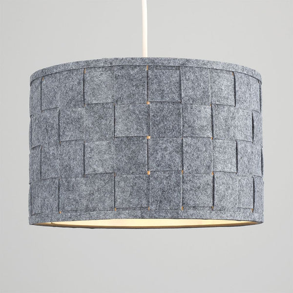 Monza Large Felt Weave Drum Shade (Grey)
