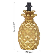 PINEAPPLE TABLE LAMP GOLD (BASE ONLY)