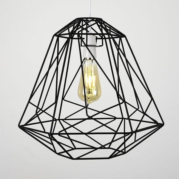 OKKO GEOMETRIC NON ELECTRIC BASKET SHADE BLACK