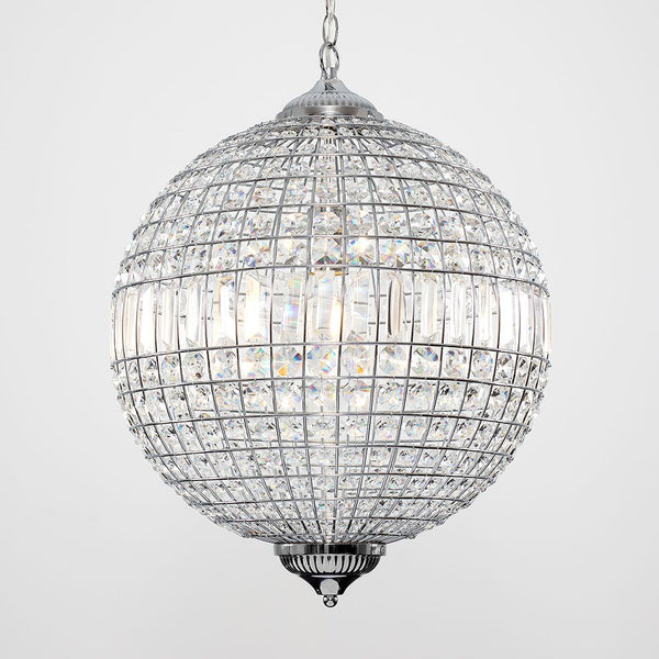 Iconic Manicunia K9 Crystal Globe Ceiling LIGHT Light Chrome