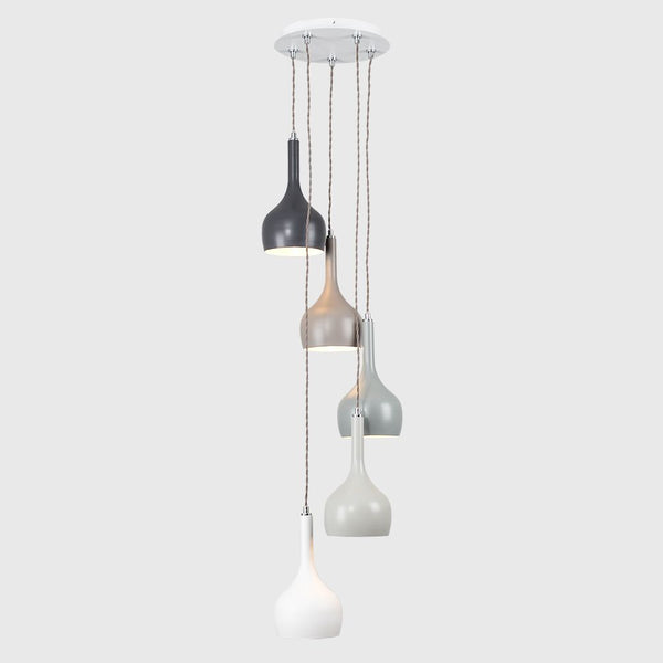 ICONIC PRITCHARD MULTI COLOURED 5 DROP CEILING LIGHT