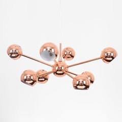 ICONIC TELSTAR COPPER 8 WAY CEILING LIGHT