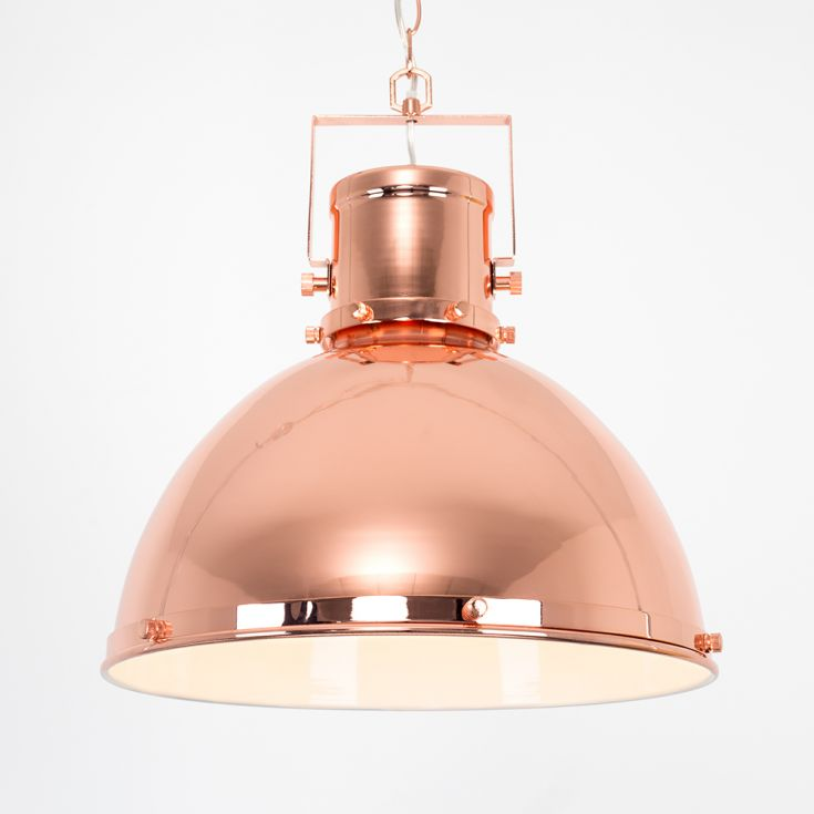 ICONIC DORIAN COPPER RETRO DOME SHADE CEILING LIGHT