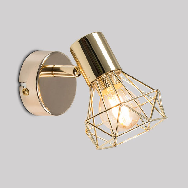 Angus Gold Effect Single Spot Light