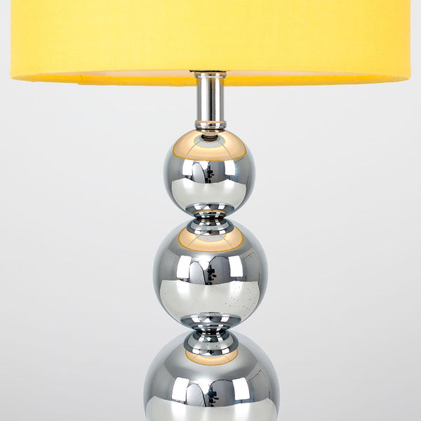 Marissa Chrome Touch Table Lamp Mustard Shade
