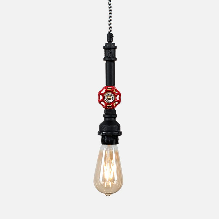 MARIO STEAMPUNK Ceiling Pendant With Tap Detail