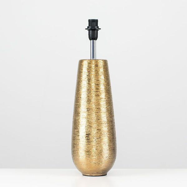 Hastings Combed Ceramic Vase Gold Touch Table Lamp