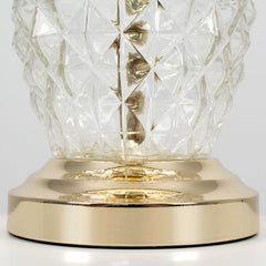 Clear Glass/ Gold Pineapple Touch Lamp Black Shade