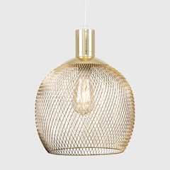 REGINA GOLD ELECTRIC MESH PENDANT