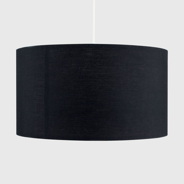 Black Rolla XL Pendant Drum Shade