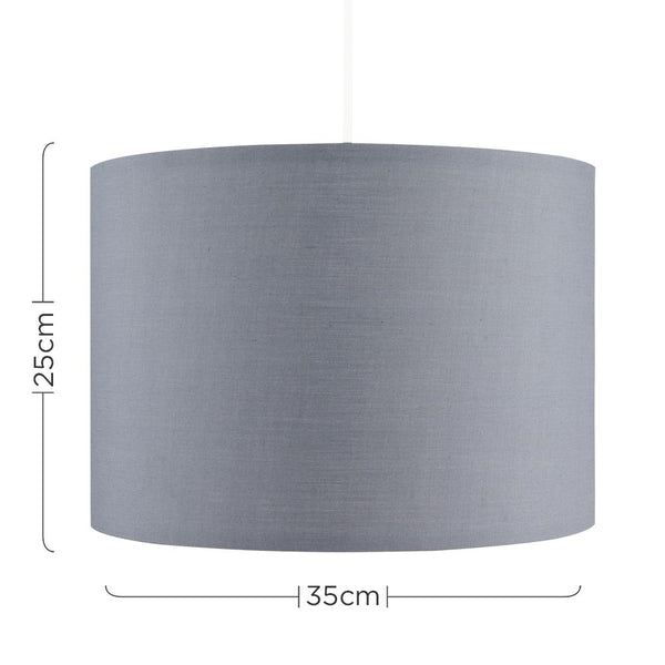 Large Rolla Grey Drum Shade