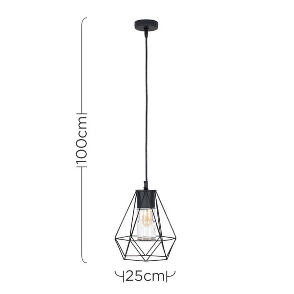 DIABLO BLACK IP44 ELECTRIC PENDANT