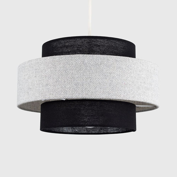 WEAVER PENDANT SHADE IN GREY AND BLACK