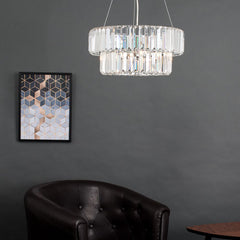 ICONIC BELGRAVIA 5 WAY CHROME / CRYSTAL CEILING PENDANT