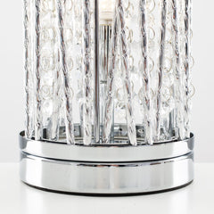 VINCENT GLITZ TOUCH TABLE LAMP CHROME / CLEAR
