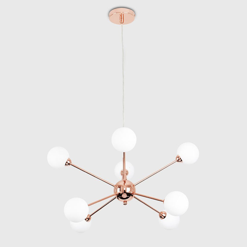 SATELLITE COPPER 8 WAY CEILING LIGHT
