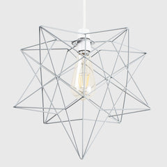 SADIRA MATT GREY WIRE STAR NE CEILING PENDANT