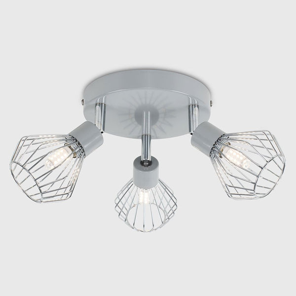 DUNDEE 3 WAY SPOTLIGHT GREY / CHROME