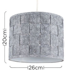 Monza Small Felt Weave Drum Shade (Grey)