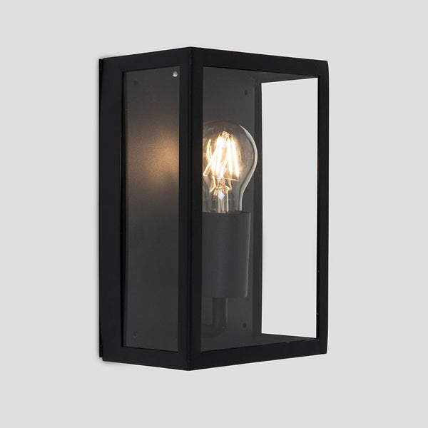 TIDESWELL BLACK RECTANGULAR OUTDOOR WALL LIGHT