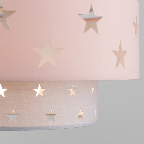 WEAVER DUSKY PINK/DARK GREY STAR CUT-OUT NE PENDANT SHADE
