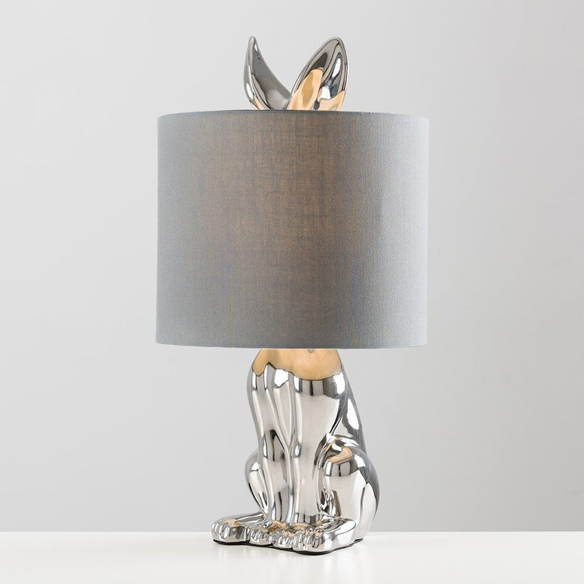 Lepus Chrome Table Lamp With Grey Shade