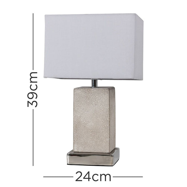Hadden Grey Table Lamp With Grey Shade