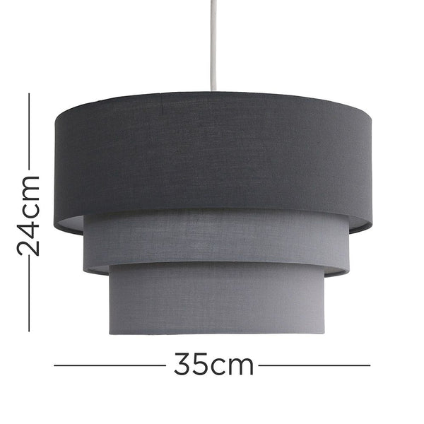 AZTEC PYRAMID GREY PENDANT SHADE
