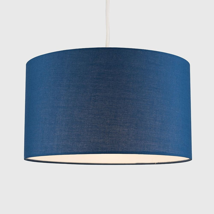 Reni Large Pendant Drum Shade Navy