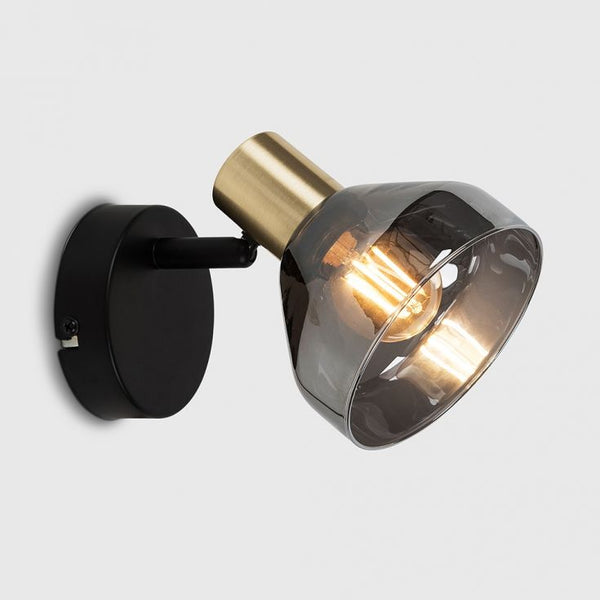 TYRA BLACK AND GOLD WALL LIGHT