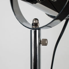 STARBOARD SPOTLIGHT MATT BLACK AND CHROME TRIPOD FLOOR LAMP