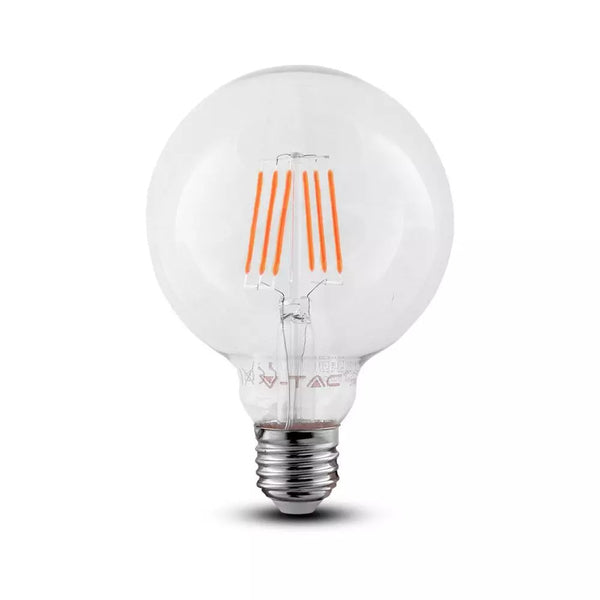 V-TAC LED G125 6W CLEAR FILAMENT 2700K