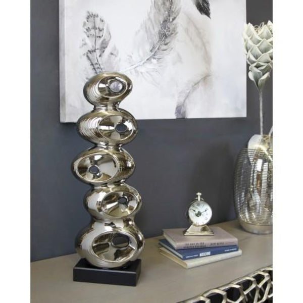 Silver Abstract Sculpture