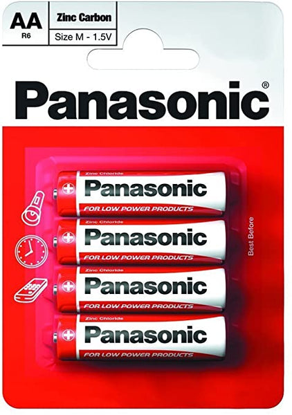 Panasonic AA/4 Zinc Carbon (4 Pack)