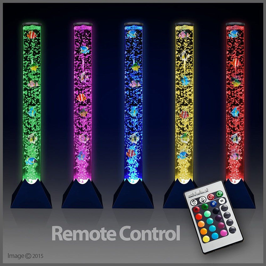 90CM LED RGB REMOTE CONTROL BUBBLE LAMP WITH 5 FISH