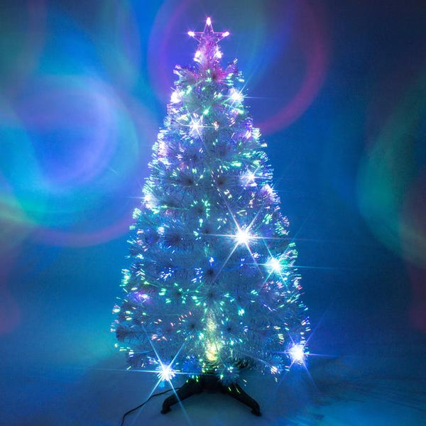 Premier 1.2 Metre Fibre Optic WHITE tree